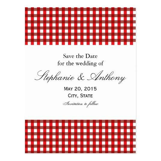 Red and White Gingham Pattern Barbeque