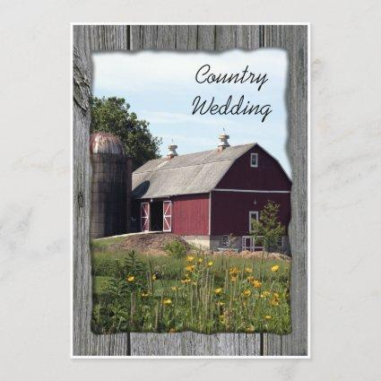 Red Barn Country Wedding Save the Date