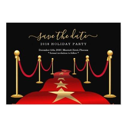 Red Carpet Themed Party Save the Date Cards