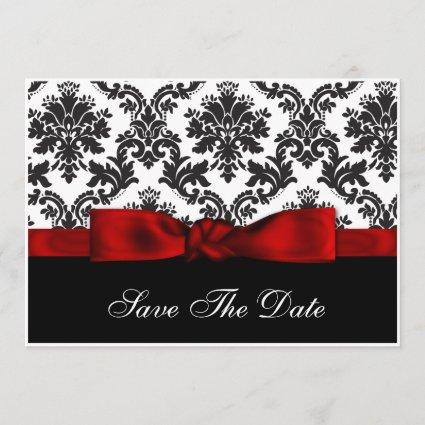 red  damask Save the date