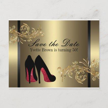 Red Dancing Shoes - Save The Date Announcement
