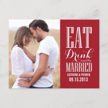 Red Eat Drink & Be Married