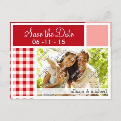 Red Gingham Announcement