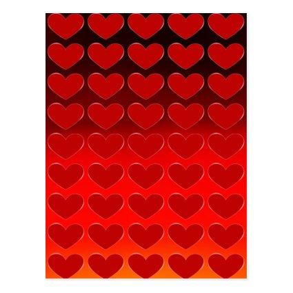 Red Hearts Charming Pop Art Love Cards
