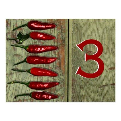 Red Hot Chili Peppers Wood Look Table Number