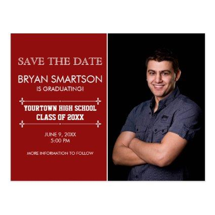 Red Personalized Photo Graduation