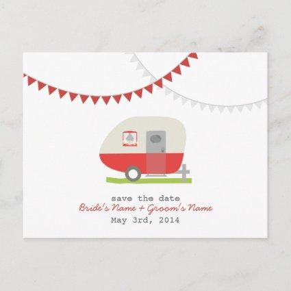 Red Retro Trailer Wedding