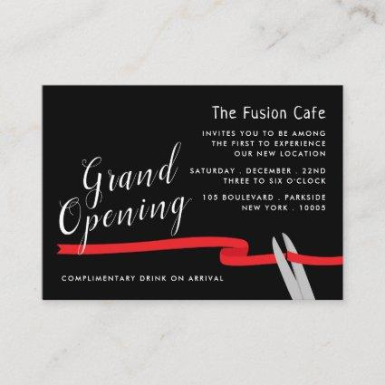 Red Ribbon, Grand Opening Ceremony Enclosure Card