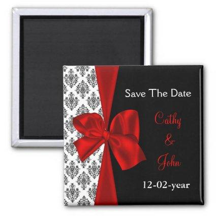 red Save the date Magnets