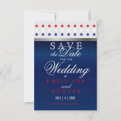 Red, White & Blue Patriotic Stars Save The Date