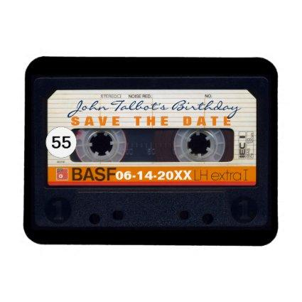Retro Audiotape 55th birthday Save the date Magnet