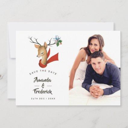 Retro Vintage Christmas Wedding Save the Date