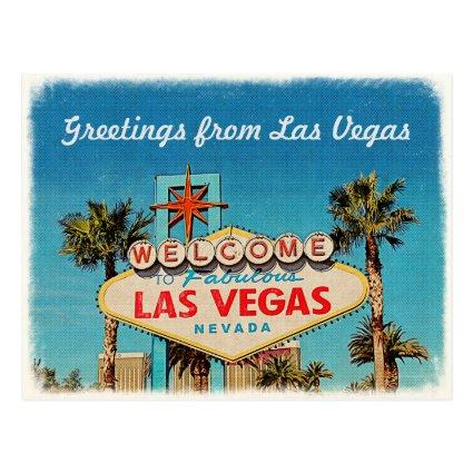 Retro Vintage Greeting from Fabulous Las Vegas Cards