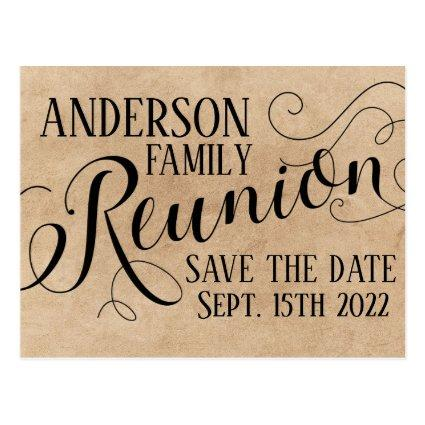Reunion card design