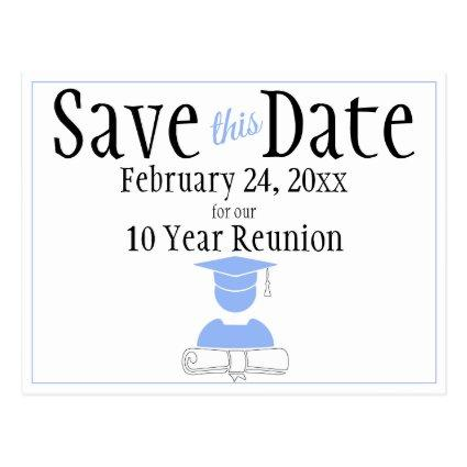 Reunion Class Save The Date Minimalist Pastel Blue