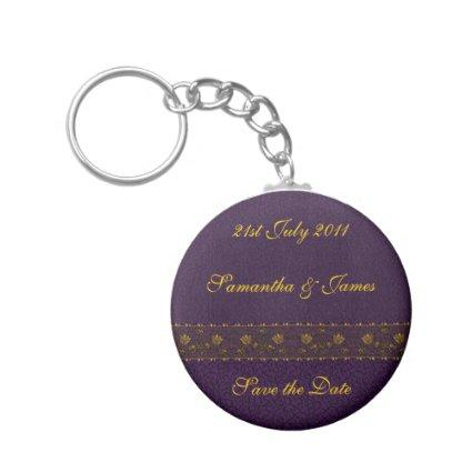 Rich Purple Wedding Keychain
