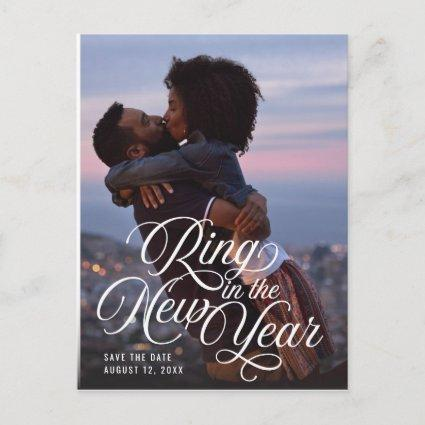 Ring in the New Year Photo Save the Date Announcement
