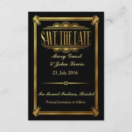 Roaring 20's Art Deco Gatsby  Save The Date