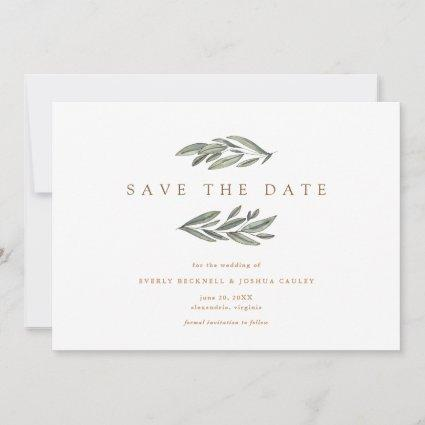 Romantic Evergreen Save the Date