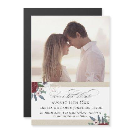 Romantic Florals, Magnetic save the date Magnetic Invitation