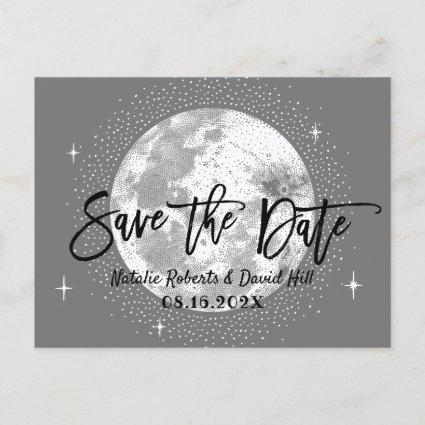 Romantic Moon & Stars Wedding Save the Date Announcement