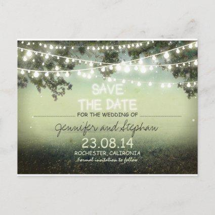 romantic night lights modern save the date announcement