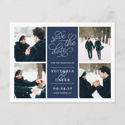 Romantic Request | Photo Collage Save the Date Announcement