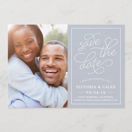 Romantic Request | Photo Save the Date Card