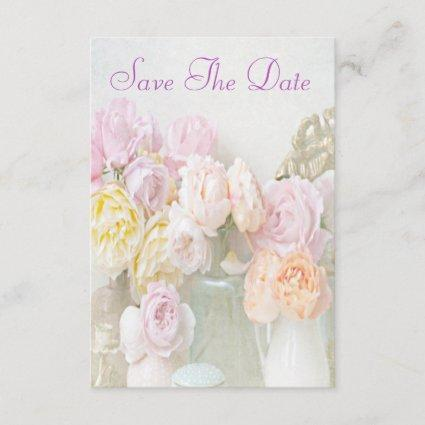 Romantic Roses in Jars 80th Save The Date