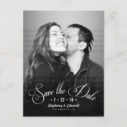 Romantic Script Save the Date Photo