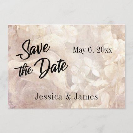 Romantic, Vintage, Floral Save the Date Typography