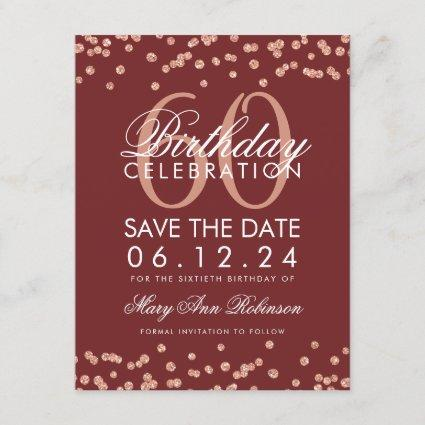 60th surprise party for her a07 black and gold invitation save the
