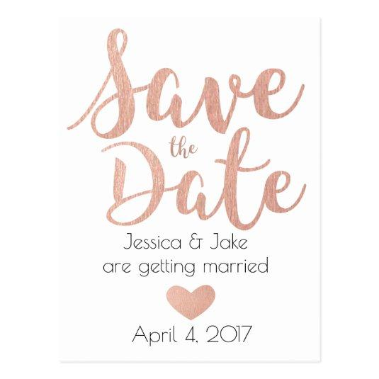 Rose Gold, Save the Date Cards