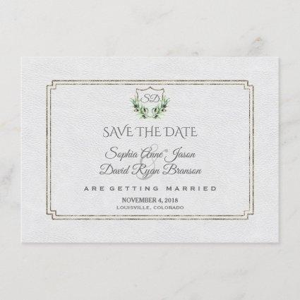 Royal Silver Crest Lush Greenery Save The Date