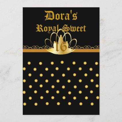 Royal Sweet Sixteen Invitation!-Cust. Save The Date