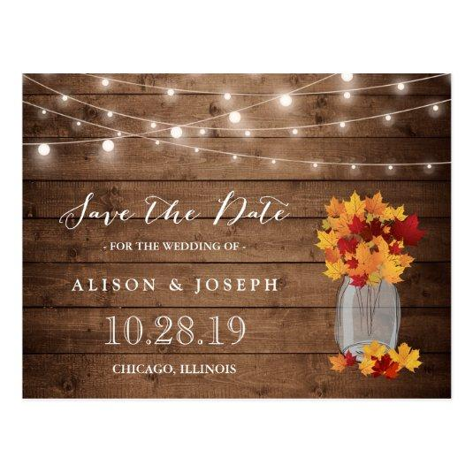 Rustic Autumn Leaves String Lights