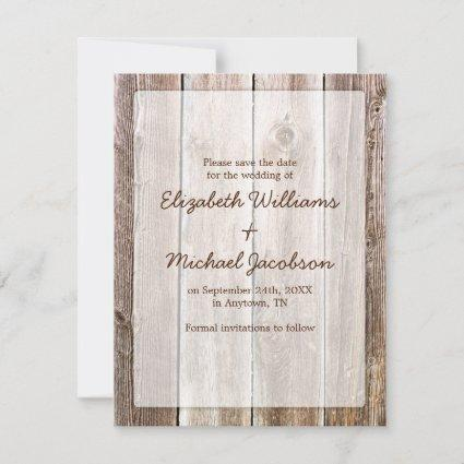 Rustic Barn Wood Save the Date