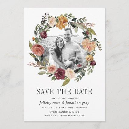 Rustic Bloom | Photo Save the Date Card