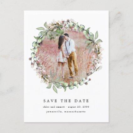 Rustic Boho Botanical Wedding Save the Date Announcement