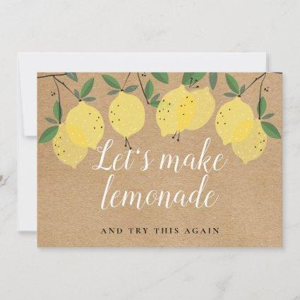 Rustic Boho Lemons Change the Date Event Save The Date