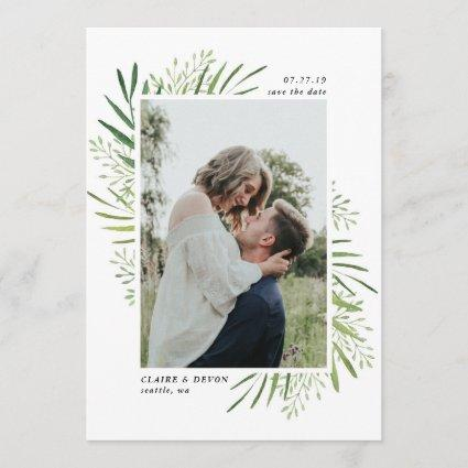 Rustic Botanical Border Save the Date