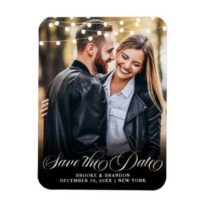 Rustic Burgundy Floral Mason Jar Save the Date Magnet