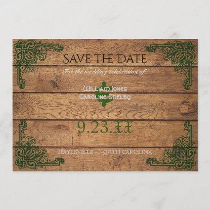 Rustic Celtic Claddagh Save the Date