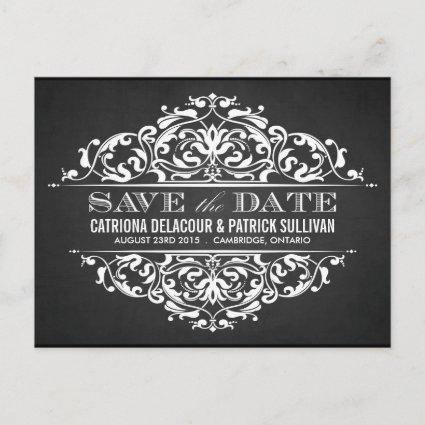RUSTIC CHALKBOARD VINTAGE SAVE THE DATE Cards