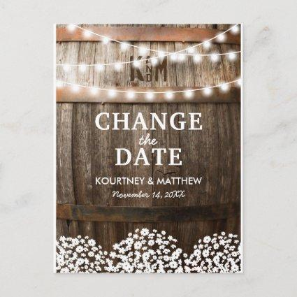 Rustic Change the Date | Wedding Postponed Announcement