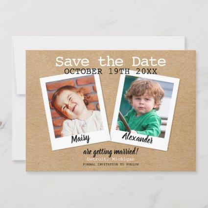 Rustic Childhood Photos Save The Date
