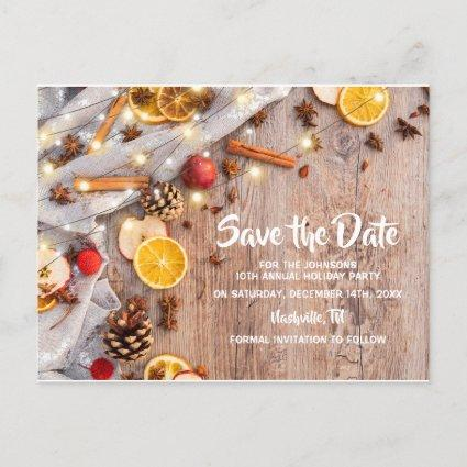 Rustic Christmas Festive Holiday Party Announcement