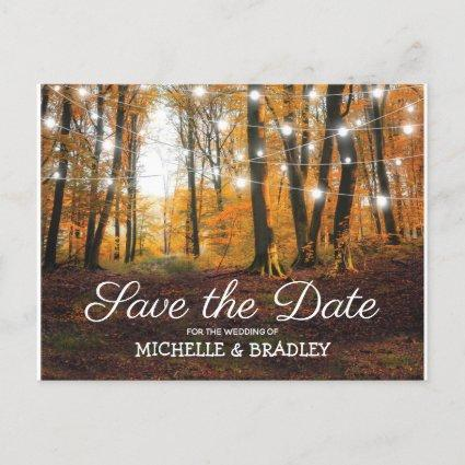 Rustic Country Autumn Fall Save the Date Announcement