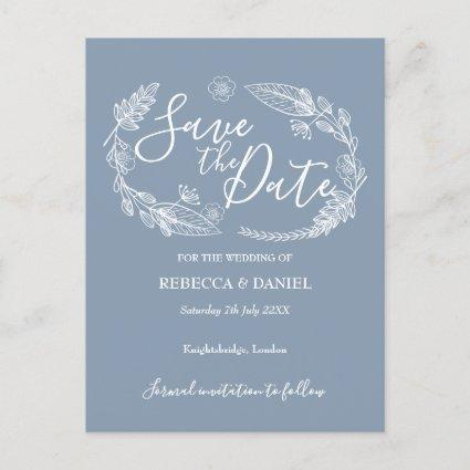 Rustic Country Floral Save the Date Card