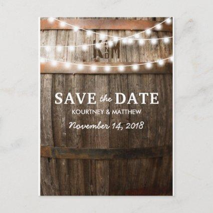 Rustic Country Save the Date | String of Lights Announcement